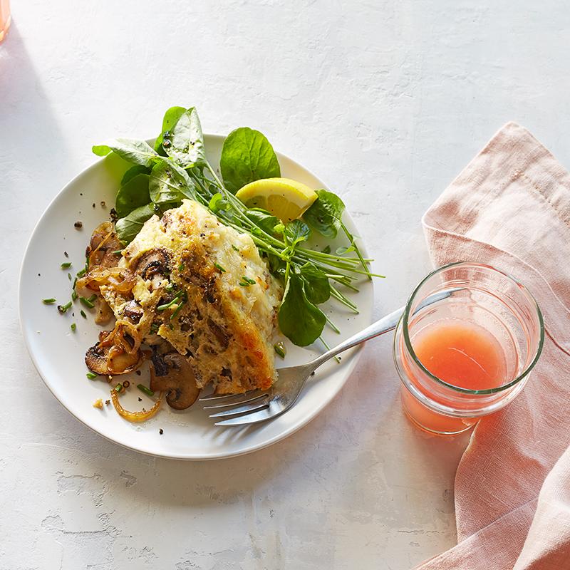Photo of Mushroom-and-Swiss potato breakfast casserole by WW