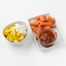 Photo of Mango and Ricotta, Carrots and Salsa by WW