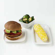 Photo of Veggie Burger and Corn on the Cob  by WW