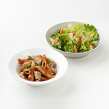 Photo of Pasta with Salmon and Peachy Salad  by WW