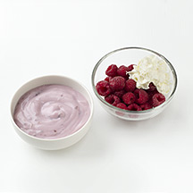 Photo of Yogurt and Raspberries with Whipped Cream by WW