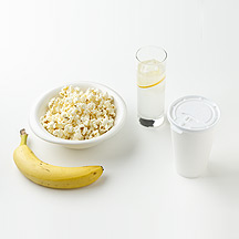 Photo of Latte, Banana, Lemonade and Popcorn by WW