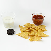 Photo of Milk and Cookies, Chips and Salsa by WW