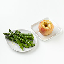 Photo of Asparagus and a Baked Apple by WW