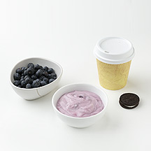 Photo of Yogurt, Berries, Latte and a Cookie by WW
