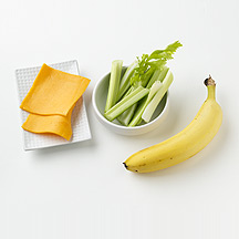Photo of Celery, Cheese and a Banana by WW