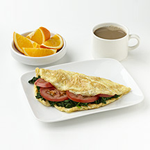 Photo of Diner Omelet with Fruit and Coffee  by WW