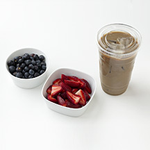 Photo of Fresh Berries and a Latte by WW