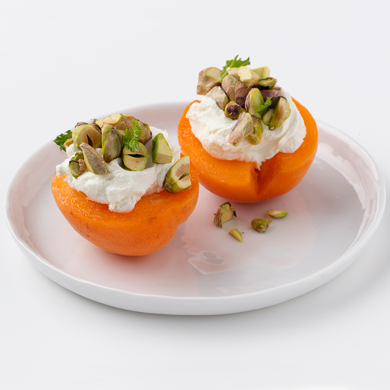 Photo of Apricots Topped with Goat Cheese and Pistachios by WW