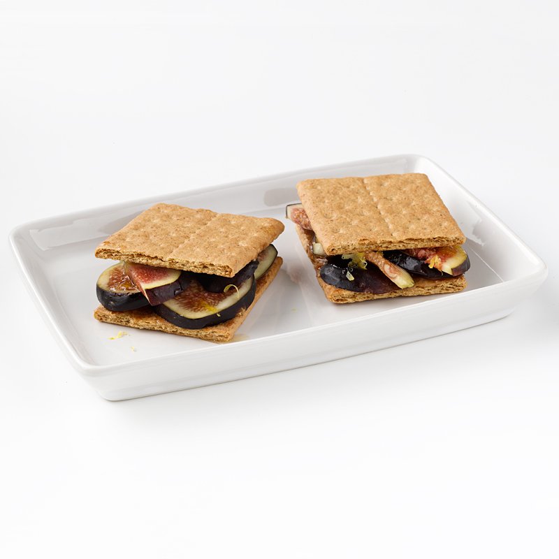 Photo of Graham Crackers with Fresh Figs, Lemon and Honey by WW