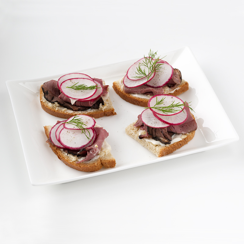 Photo of Radish and Roast Beef Canapés by WW