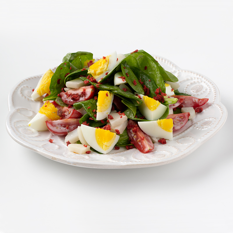 Photo of Spinach Salad with Egg, Blue Cheese & Bacon by WW