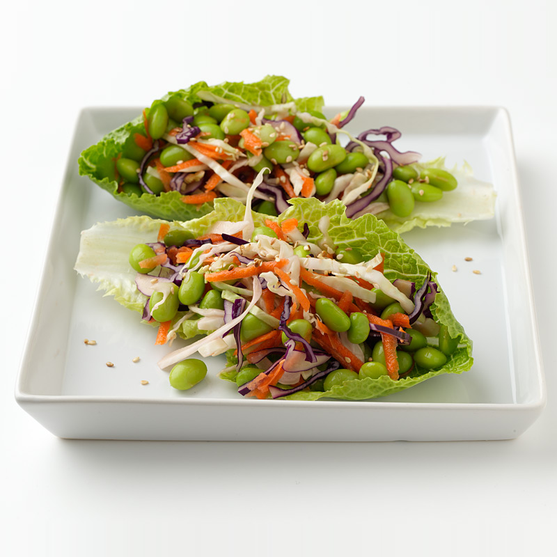 Photo of Crunchy Edamame Lettuce Wraps by WW