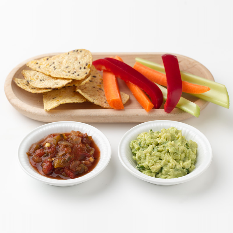 Photo of Baked Chips and Fresh Vegetables with Gucamole and Salsa by WW