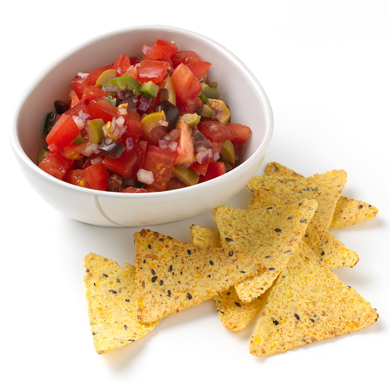 Photo of Olive and Tomato Dip with Baked Chips  by WW