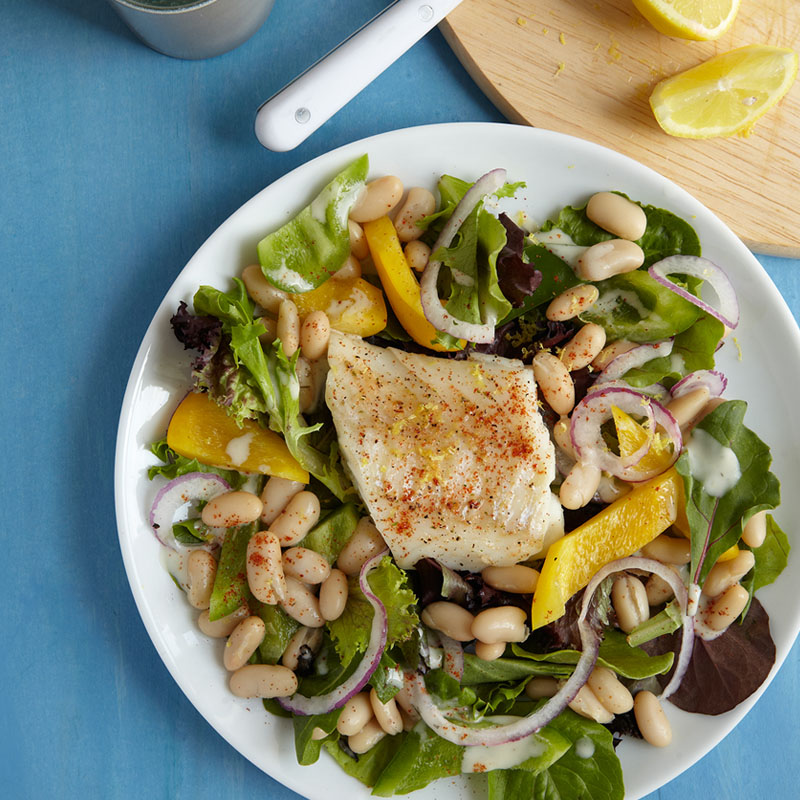 Photo of Baked Cod with Beans & Greens by WW