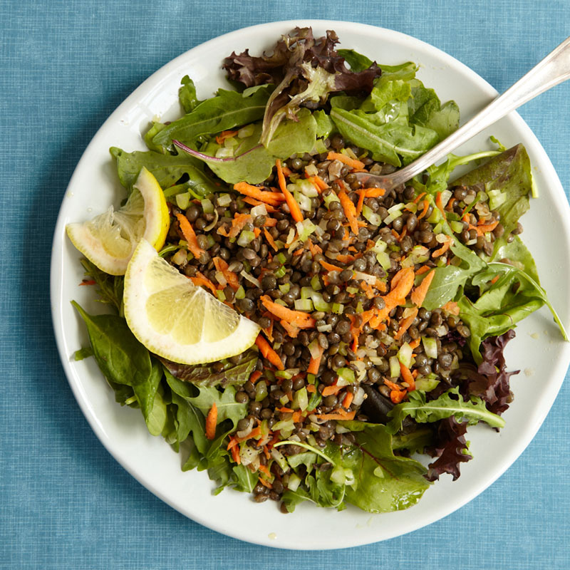 Photo of Warm Lentil Salad over Mixed Greens  by WW
