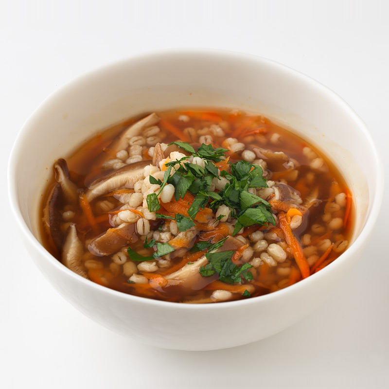 Photo of Barley and Mushroom Soup by WW