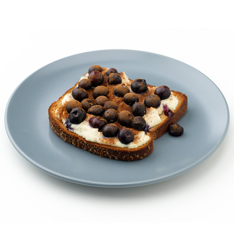 Photo of Toast with Broiled Ricotta Cheese and Berries  by WW