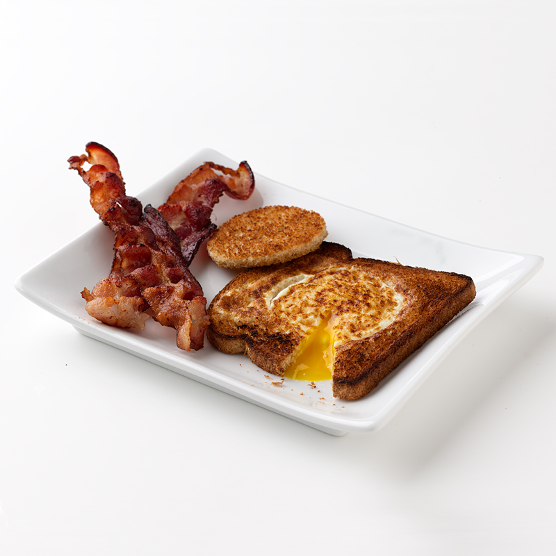 Photo of Egg in a Nest with Bacon by WW