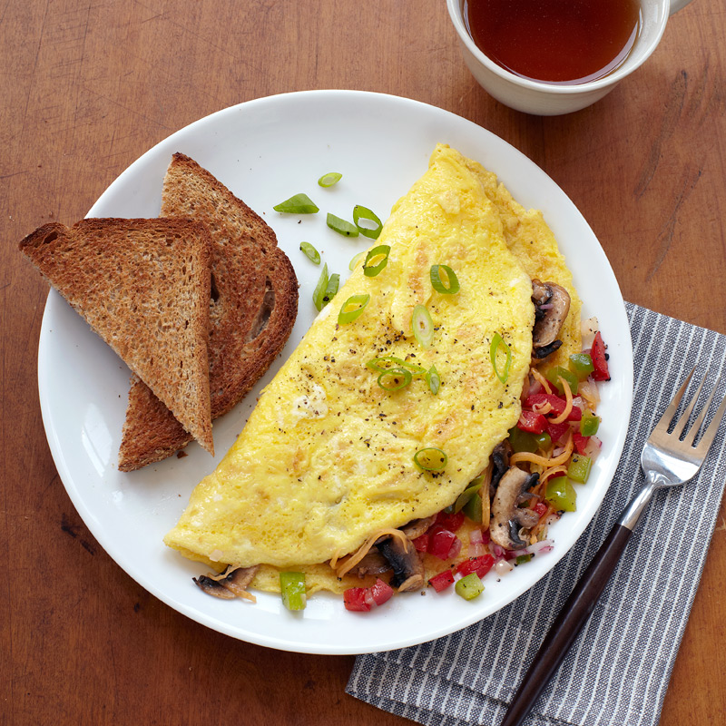 Photo of Veggie Omelet with Toast by WW