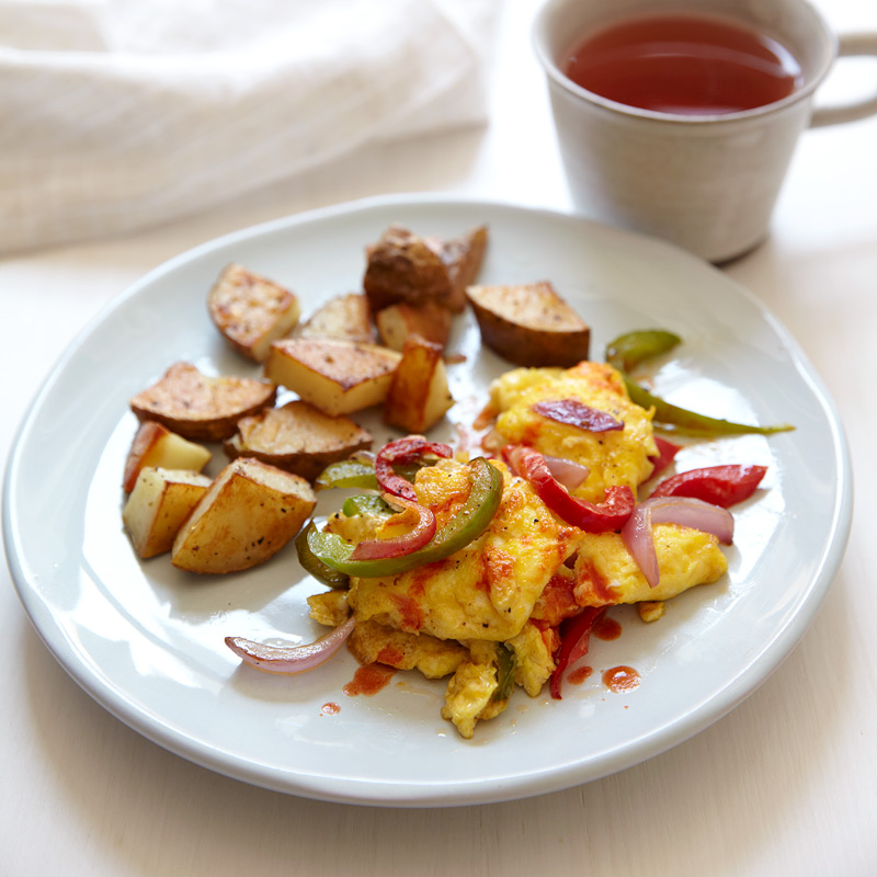 Photo of Eggs, Peppers and Onions with Roasted Potatoes by WW