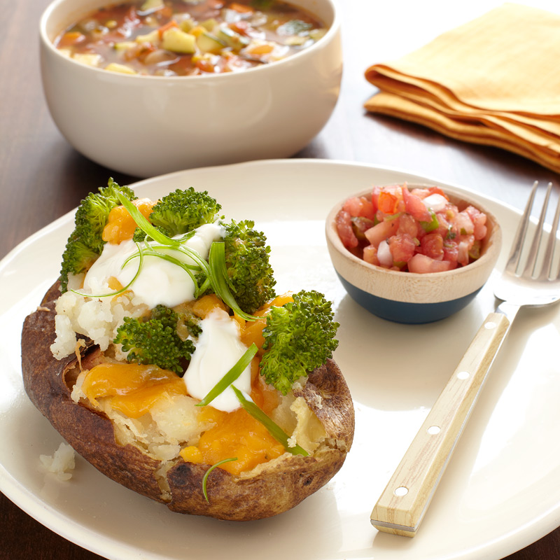 Photo of Cheesy Potato and Veggie Soup by WW