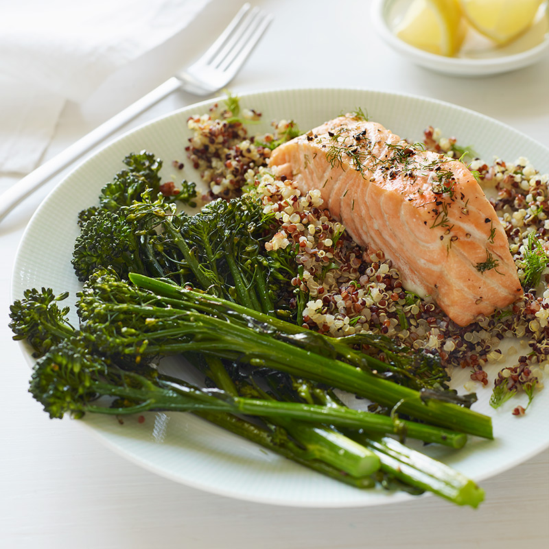Photo of Baked Salmon with Quinoa and Broccolini by WW