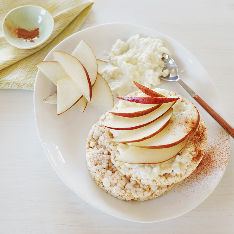 Photo of Cottage Cheese and Pear Rice Cakes by WW