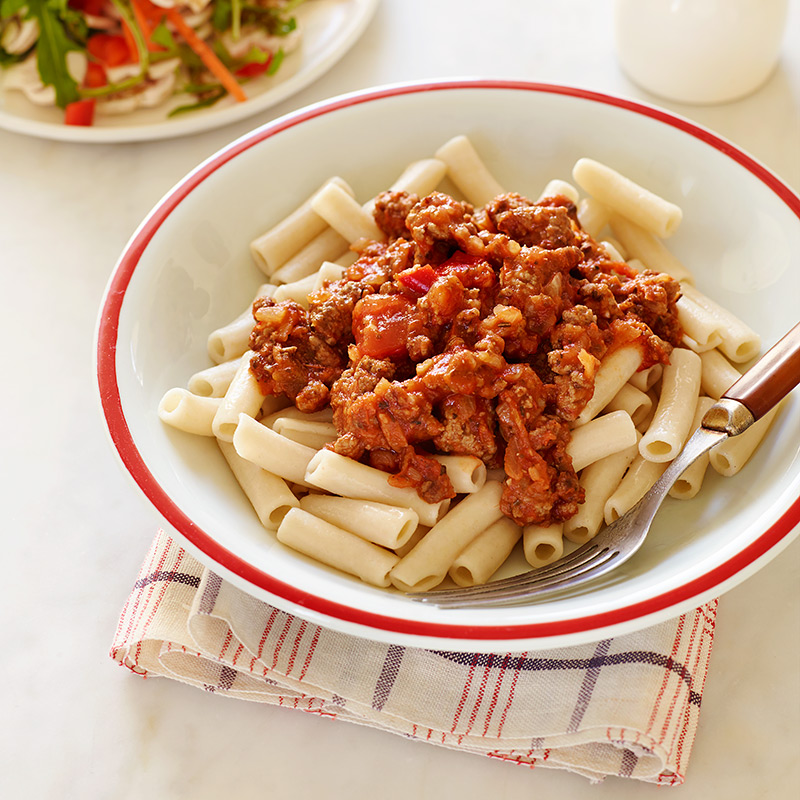 Photo of Brown Rice Pasta with Meat Sauce by WW