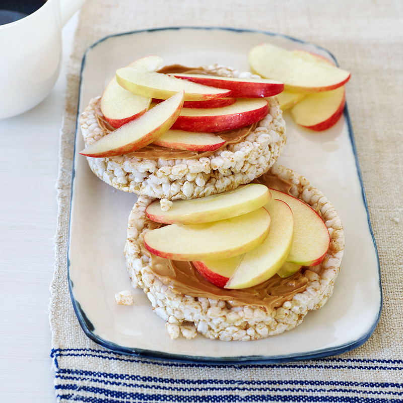Photo of Peanut Butter and Apple Rice Cakes by WW