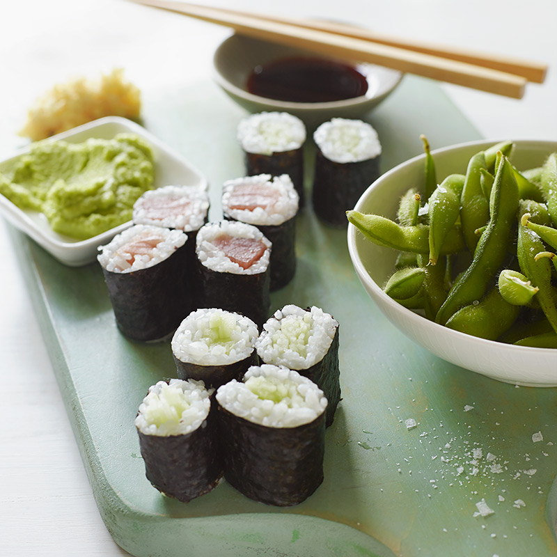 Photo of Sushi Take Out with Edamame by WW