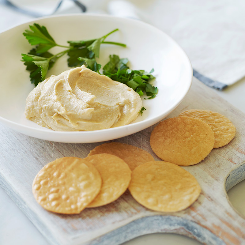 Photo of Hummus and Brown Rice Crackers by WW