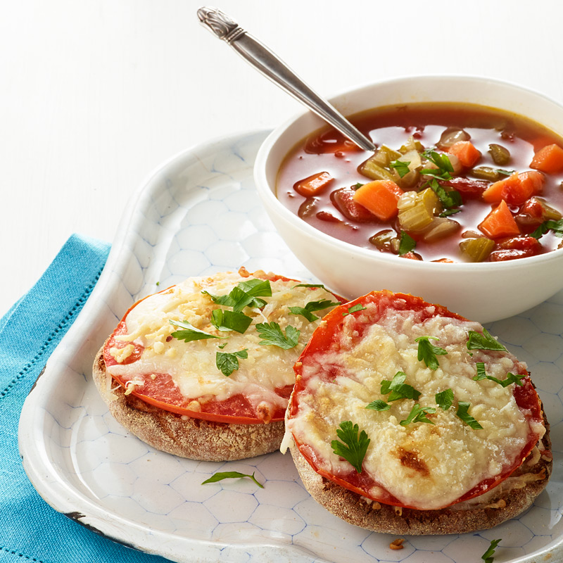 Photo of Grilled Cheese and Homemade Vegetable Soup by WW