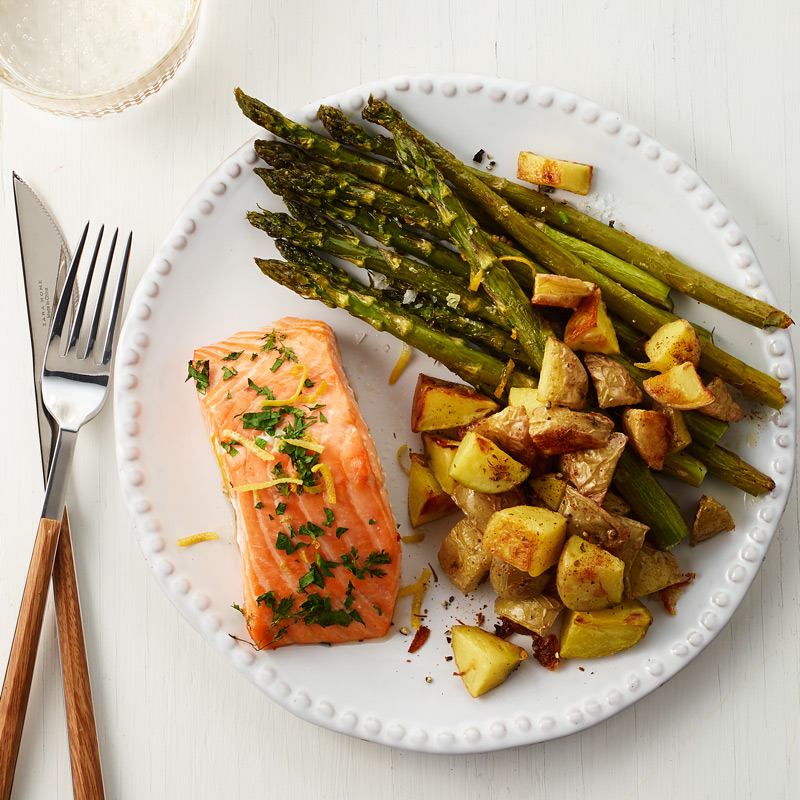 Photo of Salmon with Roasted Potatoes and Asparagus by WW