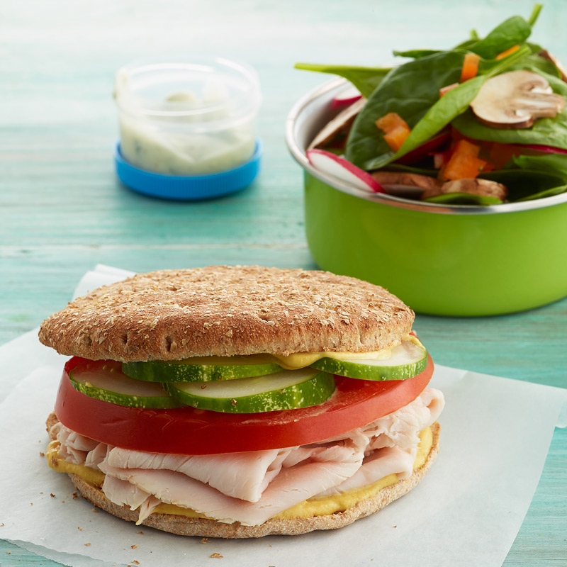 Photo of Turkey Sandwich and Side Salad by WW