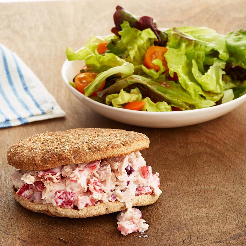 Photo of Tuna Fish Sandwich and Side Salad by WW