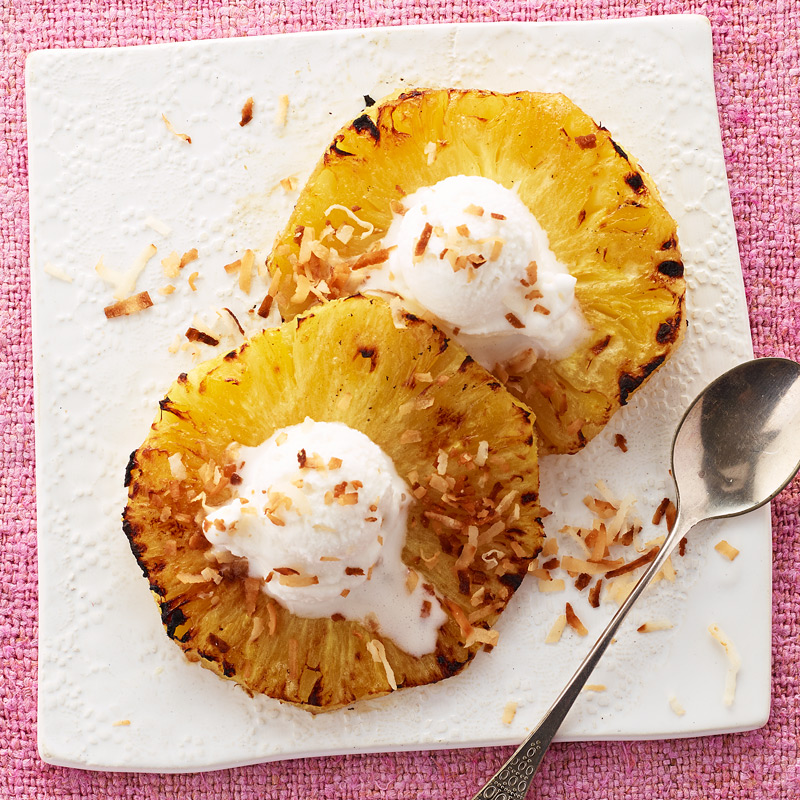 Photo of Broiled Pineapple with Sorbet and Toasted Coconut by WW
