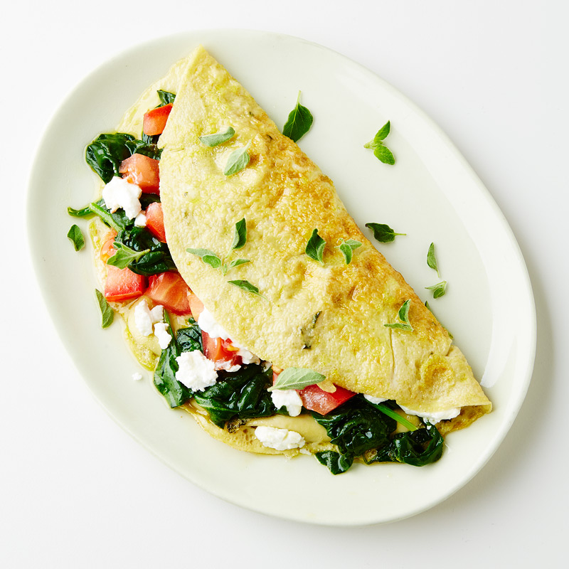 Photo of Goat Cheese, Spinach and Tomato Omelet by WW