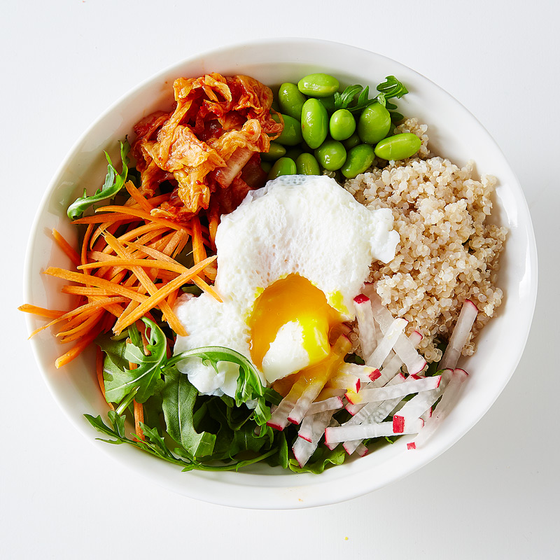 Photo of Quinoa and Edamame Bowl with a Poached Egg by WW