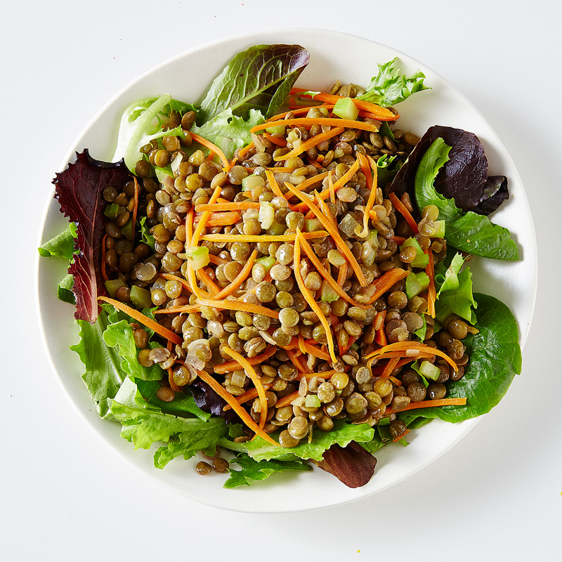 Photo of Warm Lentil-Vegetable Salad over Mixed Greens by WW