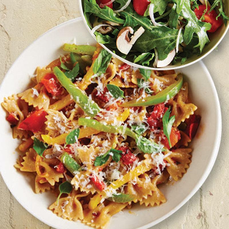 Photo of Pasta Primavera with Arugula Salad by WW