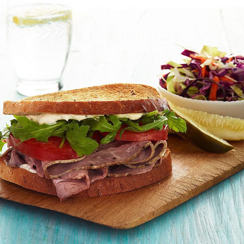 Photo of Roast Beef Sandwich and Broccoli Slaw by WW
