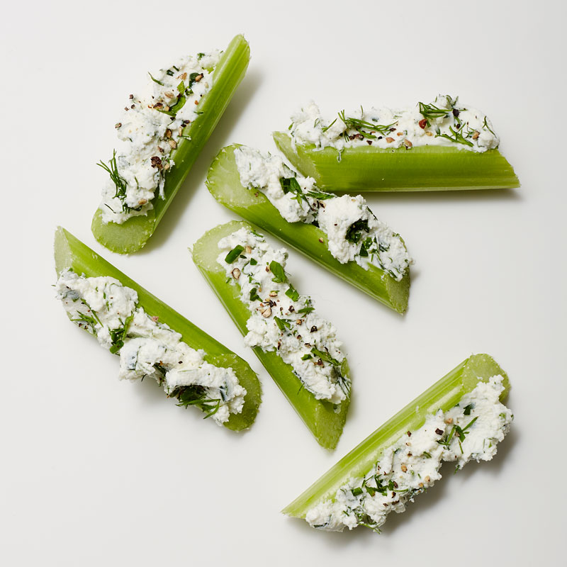 Photo of Celery Stuffed with Herbed Goat Cheese by WW
