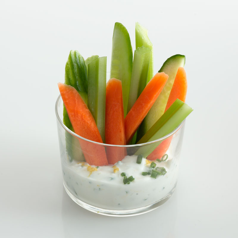 Photo of Crudite Cup with Garlic-Herb Dip by WW