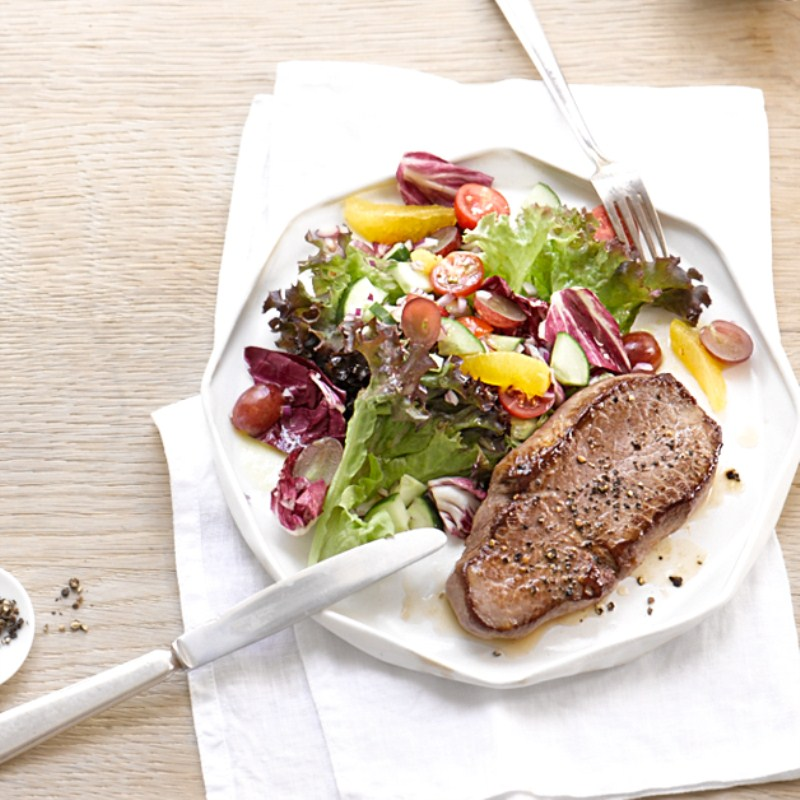 Foto van Steak met salade door WW