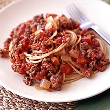 Photo of Spaghetti with Tomato-Meat Sauce by WW