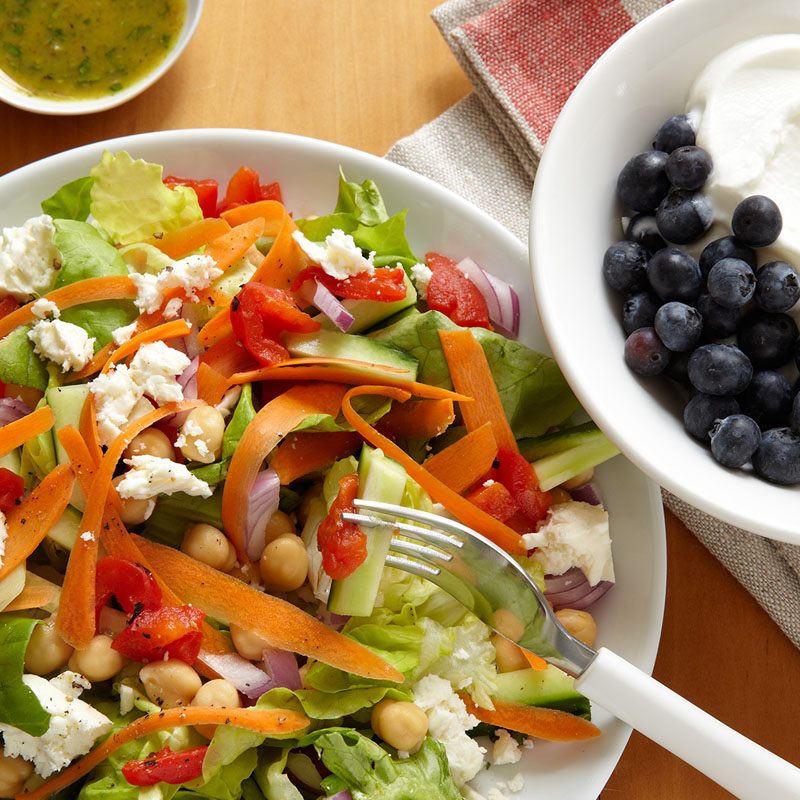 Photo of Greek Salad with Chickpeas and Feta by WW
