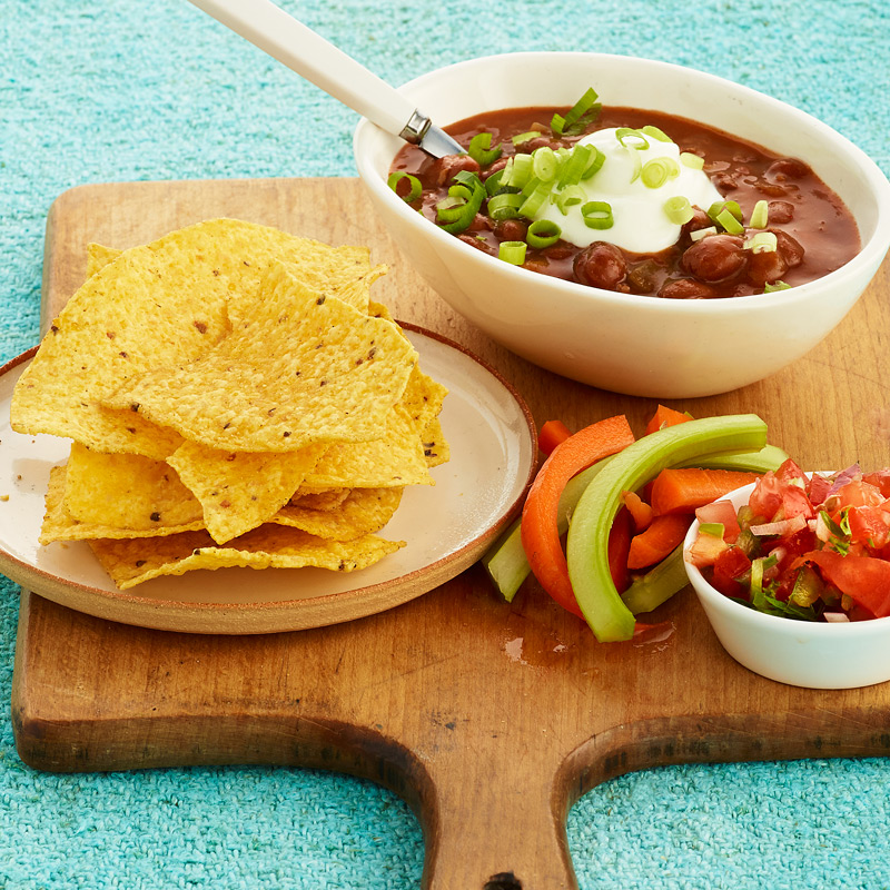 Photo of Veggie Chili with Chips and Crudités by WW