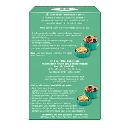 2 in 1 muffin and tart cases - back of pack